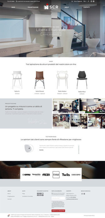 scr arredamenti website ecommerce Brand restyle